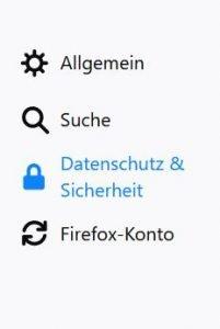 Einstellung Firefox